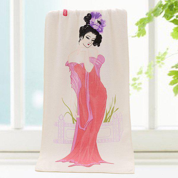 Chic Quality Chinese Ancient Beauty Pattern Change Color Towel - COLORMIX