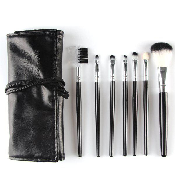 Professional 7 Pcs Nylon Face Eye Lip Makeup Brushes Set with Brush Package 15 pcs nylon face eye lip makeup brushes set