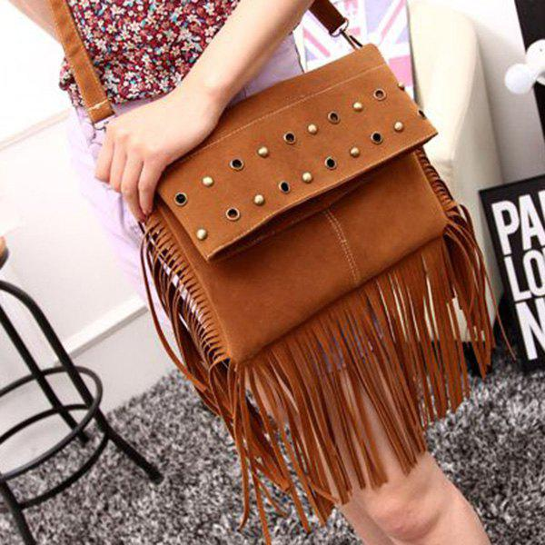 Fashion Solid Color and Metal Design Women's Shoulder Bag