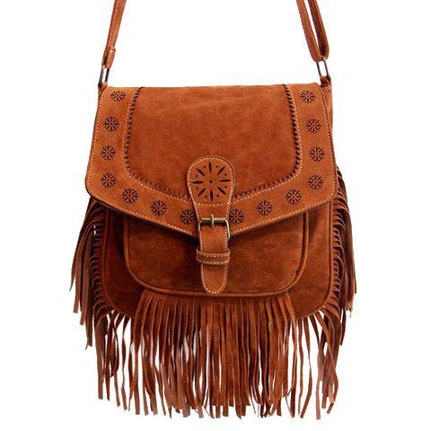 Ethnic Style Buckle and Engraving Design Women's Crossbody Bag
