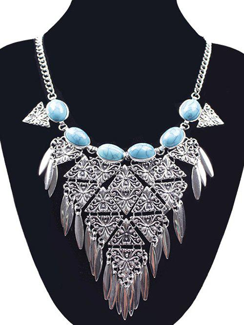 Ethnic Triangle Necklace - SILVER