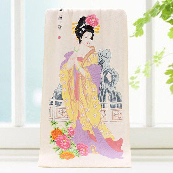 High Quality Flowers and Ancient Beauty Pattern Change Color Towel - COLORMIX