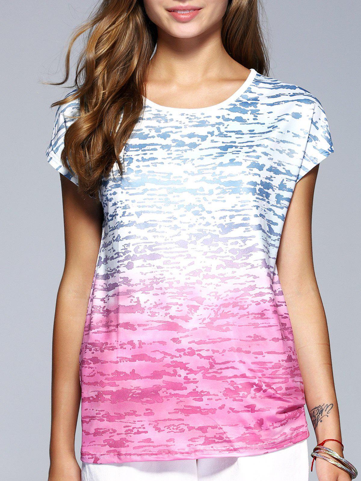 Heartbeat Of a Youth Gradient Tee - BLUE/PINK XL