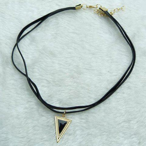 Vintage Faux Gem Triangle Layered Choker Necklace