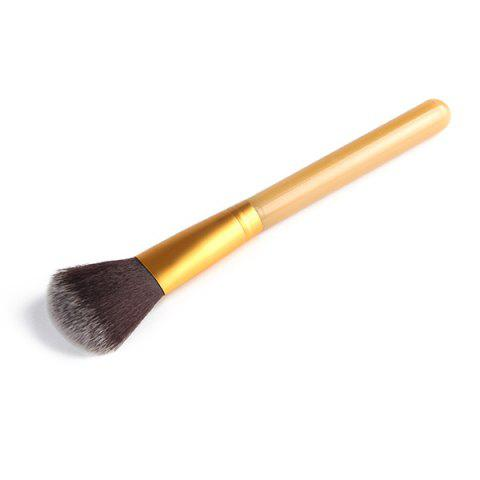 Professional Soft Nylon Blush Brush - GOLDEN