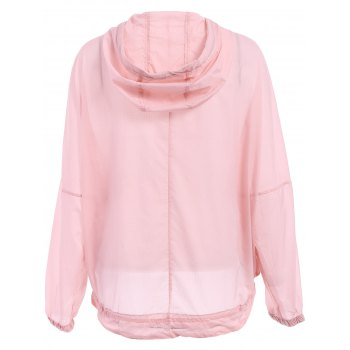 Stylish Candy Color Hooded Long Sleeve Coat For Women - PINK ONE SIZE(FIT SIZE XS TO M)