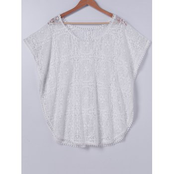 Stylish Lace ScoopNeck Cover Up For Women