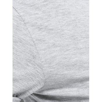 Plus Size Casual Pure Color long T-shirt - Gris 4XL