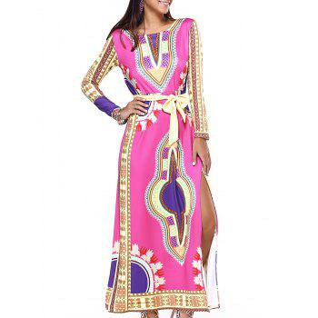 Stunning Ethnic Belted High Slit Dress