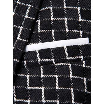 Chic Stripe Print Lapel Collar Single Button Patchwork Blazer For Men - BLACK 3XL