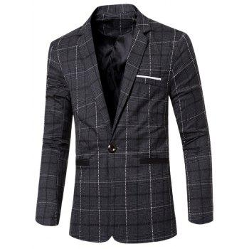 Vintage Slim Fit Notched Lapel Collar Single Button Striped Blazer For Men