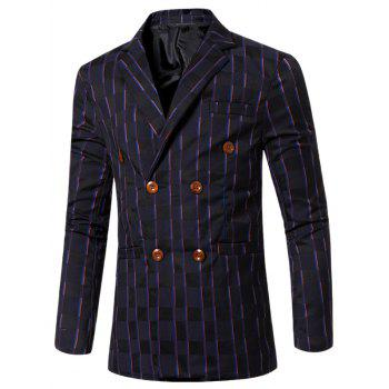 New Look Striped entaillé col à revers double boutonnage Blazer pour homme