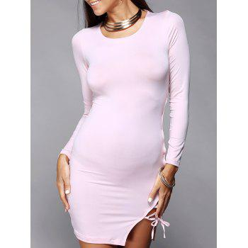 Hollow Out Skinny Long Sleeve Dress