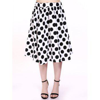 Oversized Sweet Polka Dot Print Bubble Skirt