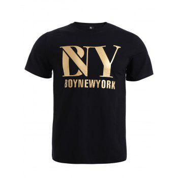 BoyNewYork Solid Color Short Sleeves T-Shirt