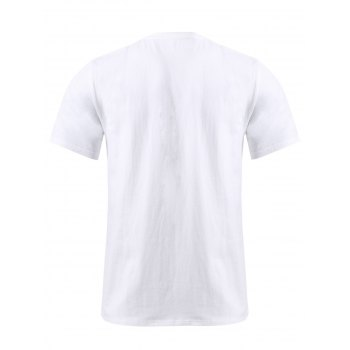 BoyNewYork 3D Eagle Pattern Short Sleeves T-Shirt - WHITE XL