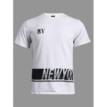 BoyNewYork Color Spliced Stripes Pattern T-Shirt