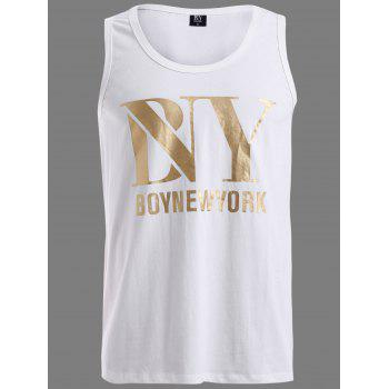 BoyNewYork Round Neck Solid Color Tank Top