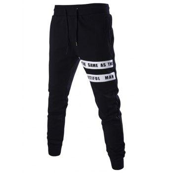 Drawstring Letter Print Men's Jogger Pants