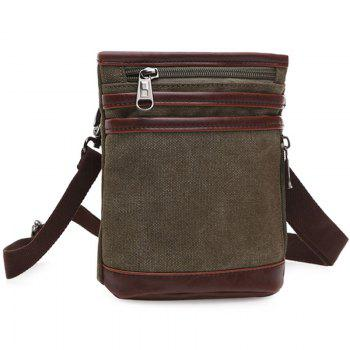Casual Splicing and Zipper Design Men's Messenger Bag