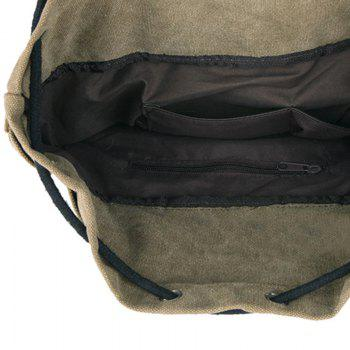 Concise Drawstring et Zippers design Men  's Sac à dos - Noir