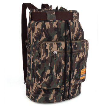 Fashionable Canvas and Camouflage Pattern Design Men's Backpack