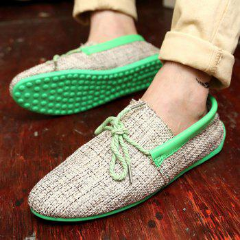 Stylish Tie Up and Linen Design Men's Casual Shoes