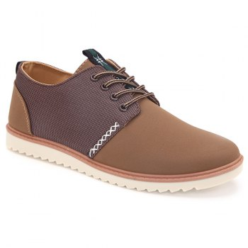 Trendy Colour Splicing and Tie Up Design Men's Casual Shoes