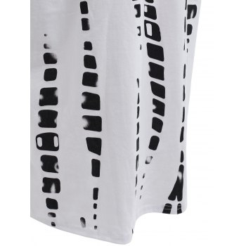 Plus Size Color Block Pencil Midi Dress - Blanc 5XL