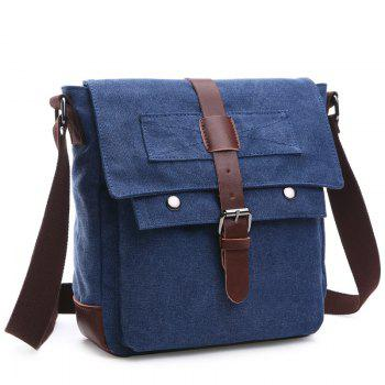 Casual Color Block and Buckle Design Men's Messenger Bag