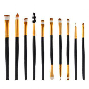 Professional 10 Pcs Multifunction Nylon Eye Makeup Brushes Set