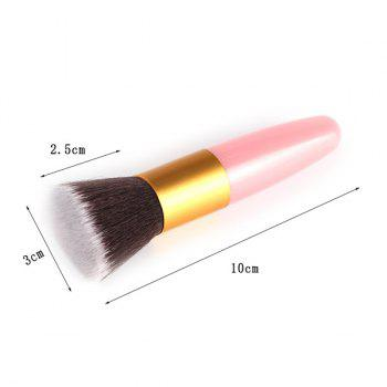 Professional Bullet Shape Handle Nylon Flat Blush Brush - PINK