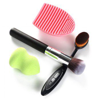 Professional 4 Pcs/Set Blush Brush + Foundation Brush + Gourd Makeup Sponge + Brush Egg - COLORMIX COLORMIX