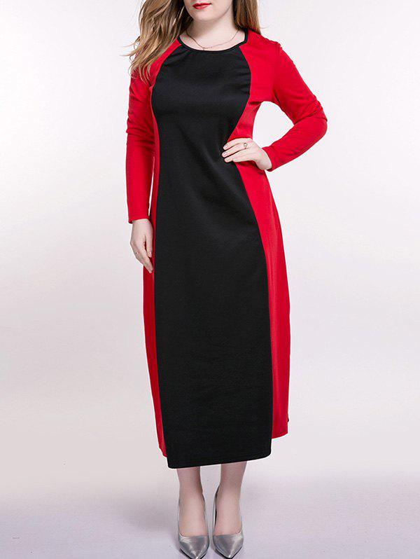 Plus Size Color Block Longline Dress все цены