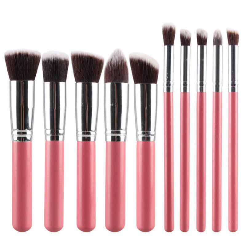 Professional 10 Pcs Fiber Powder Brush Eyeshadow Brush Face Eye Makeup Brushes Set 10 15 pcs professional mermaid makeup brush set eyeshadow lip brush eye beauty tools for women cosmetic brushes kits