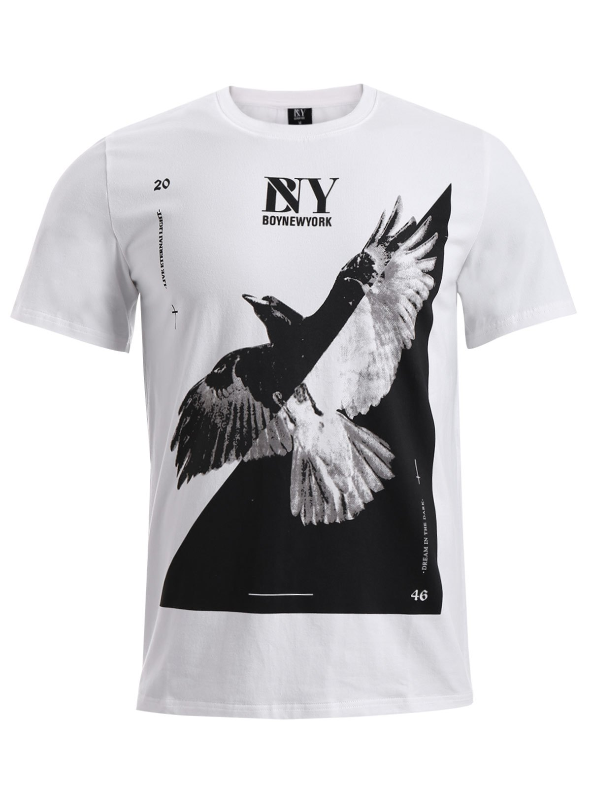 BoyNewYork 3D Eagle Pattern Short Sleeves T-Shirt