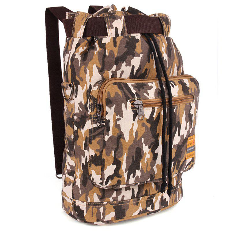 Buy Fashionable Canvas Camouflage Pattern Design Men's Backpack CAMOUFLAGE