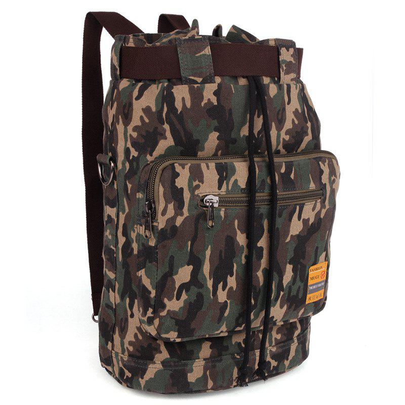 Fashionable Canvas and Camouflage Pattern Design Men's Backpack - ARMY GREEN CAMOUFLAGE