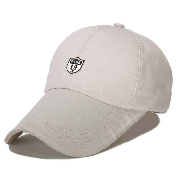 Stylish Outdoor Solid Color Long Peak Sunscreen Baseball Hat - OFF WHITE