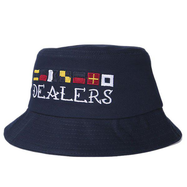 Stylish Folding Letters Embroidery Bucket Hat