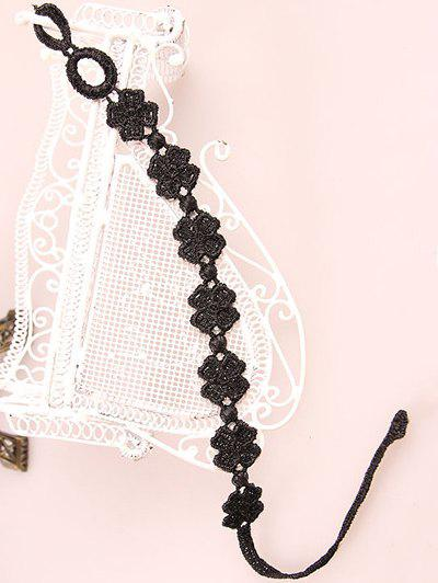 Stylish Lucky Clover Black Lace Bracelet