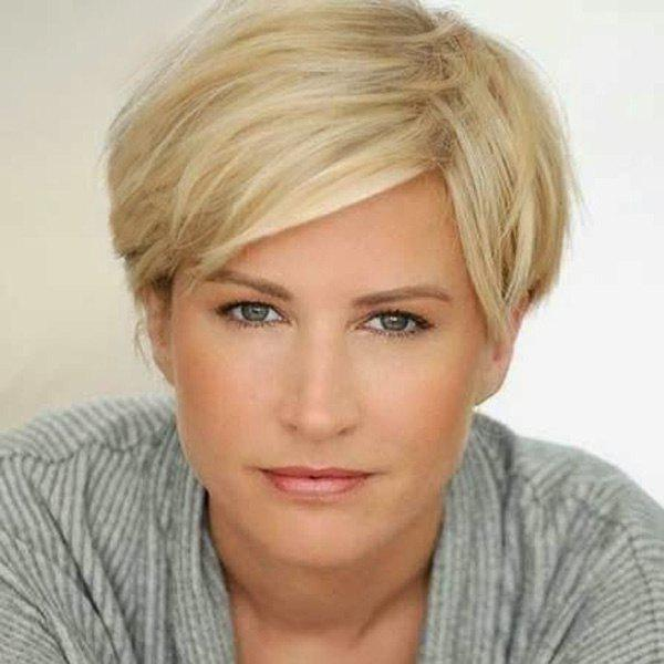 Refreshing Short Side Parting Human Hair Wig For Women