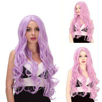 Vogue Women's Long Fluffy Wavy Middle Part Lavender Synthetic Capless Cosplay Wig