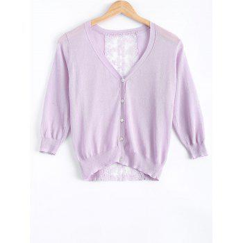 Sweet Lace See-Through Cardigan For Women