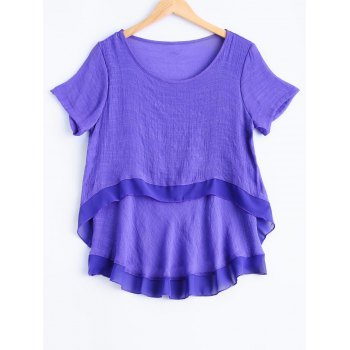 Plus Size Sweet Double Layer Blouse