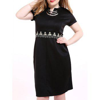 Oversized Sophisticated Tiny Flower Embroidered Dress