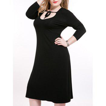 Oversized Alluring Long Sleeve Tie-Front Dress