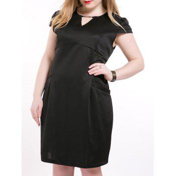 Oversized Chic Cut Out Double Pockets Dress