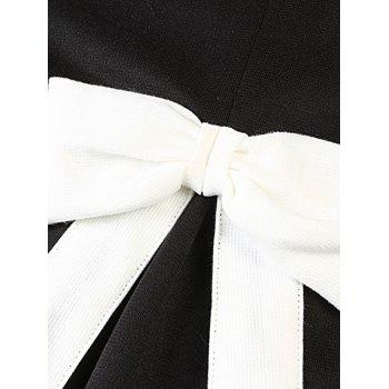 Plus Size Sweet Bowknot Embellished Princess Dress - WHITE/BLACK 2XL
