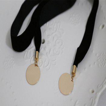 Disc Adjustable Layered Choker Necklace - GOLDEN